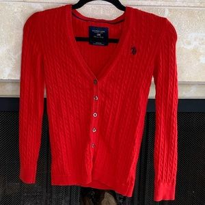 Polo Cable-knit button up sweater